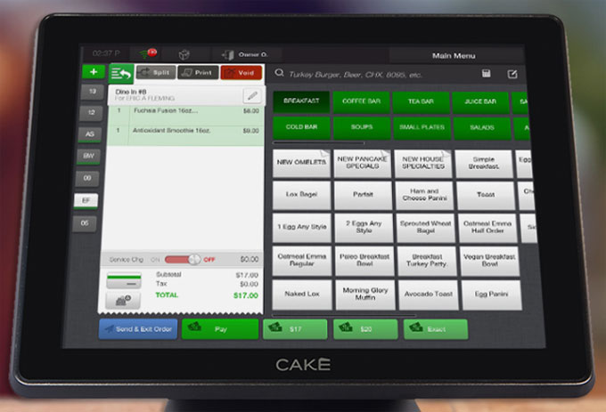 Cake Point of Sale Terminal