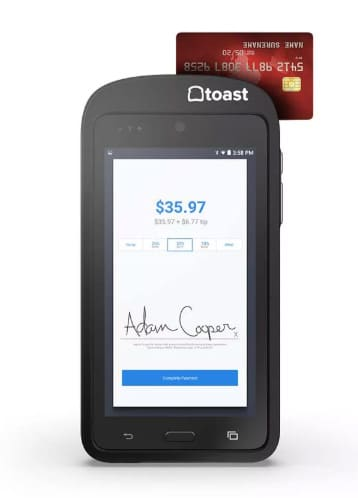 Toast Go Handheld Device