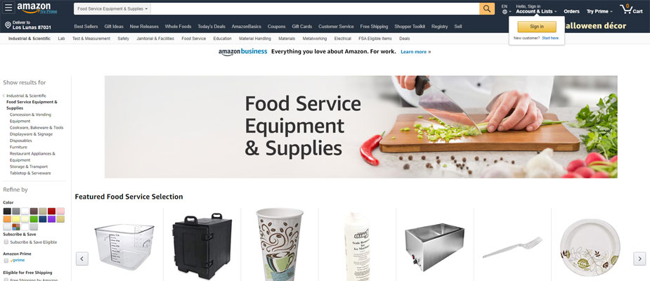 Amazaon Restaurant Equipment and Supplies