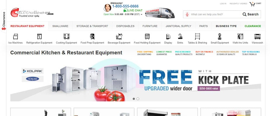 Ckitchen.com Commercial Kitchen Equipment Homepage