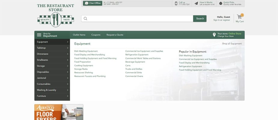 The Restaurant Store Online