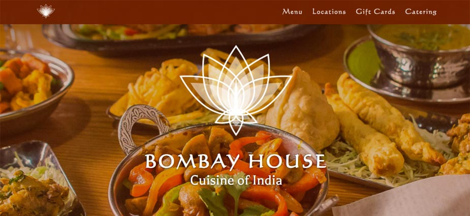 Bombay House - Indian Restaurant Web Page - Utah