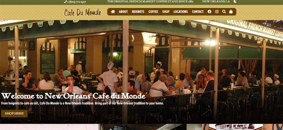 Cafe du Mond New Orleands Louisiana