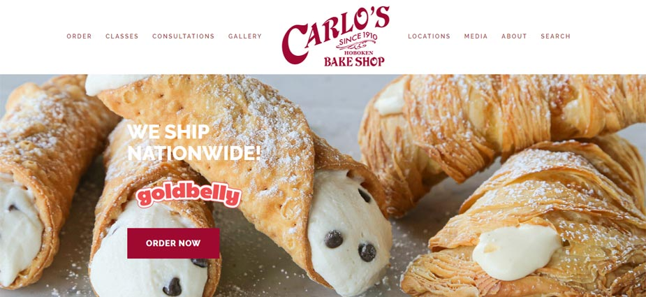 Carlos Bakery Web Home Page - New Jersey