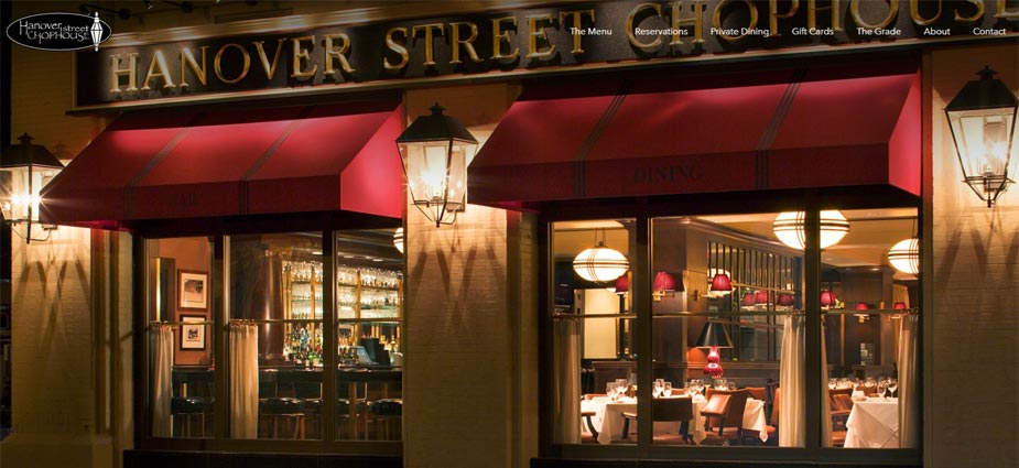 Hanover Street Chophouse's Web Presence - New Hampshire