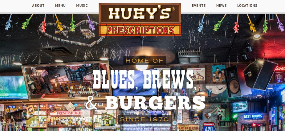 Huey's Midtown Website - Memphis Tennessee