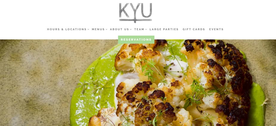 KYU Restaurant Miami Florida Site