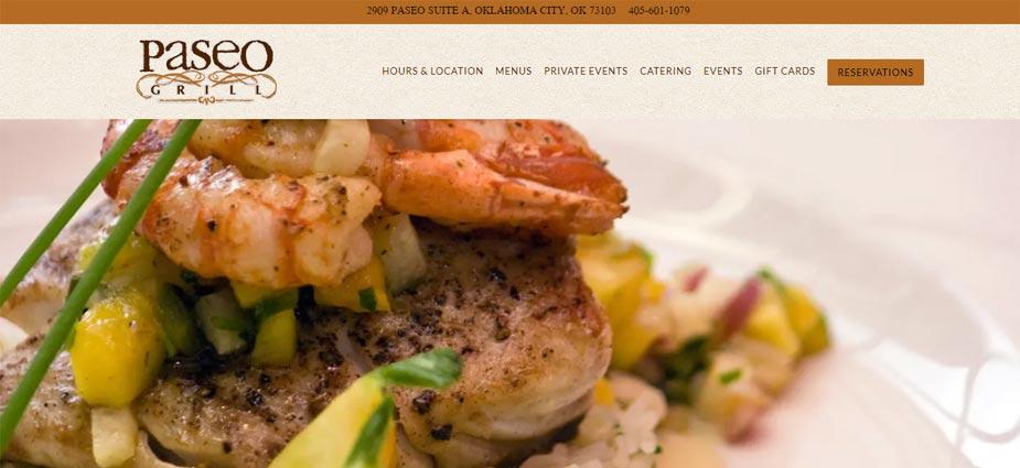 Paseo Grill Web Site Oklahoma City