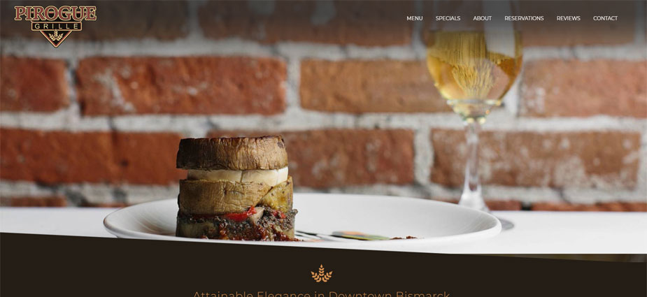 Pirogue Grille Fine Dining Website Example Bismarck North Dakota
