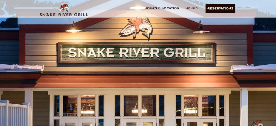 Snake River Grill Fine Dining Example - Jackson Hole Wyoming