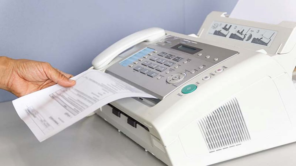 Faxing with Fax Machine